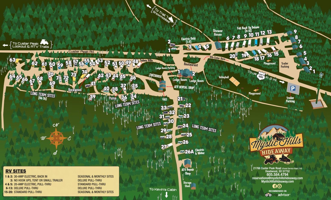 Plan your stay to Mystic Hills Hideaway ATV & Snowmobile Resort in
